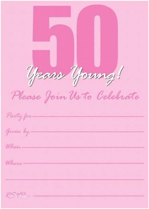 50th Birthday Invitation Template Free Printable 50th Birthday Party Invitation Templates