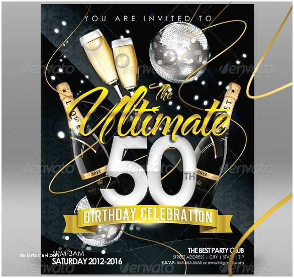 50th Birthday Invitation Template Invitation Template 42 Free Printable Word Pdf Psd