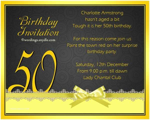 50th Birthday Invitation Wording 50th Birthday Invitation Wording Samples Wordings and