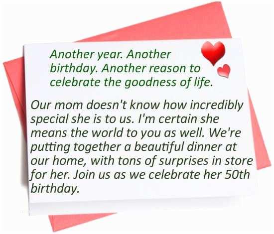 50th Birthday Invitation Wording 50th Birthday Party Invitation Wording