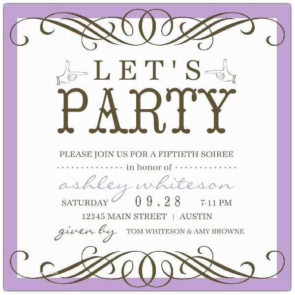 50th Birthday Invitation Wording Any Color Seattle 50th Birthday Invitations
