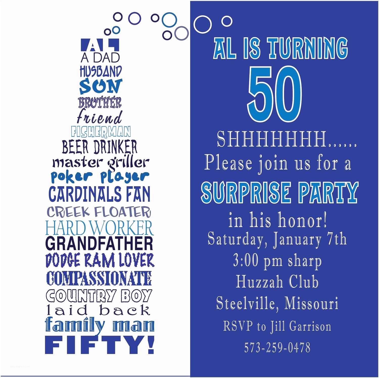 50th Birthday Invitation Wording Awesome Free Template Funny Party