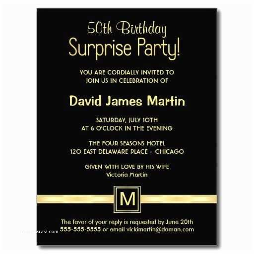50th Birthday Invitation Wording Surprise 50th Birthday Party Invitations Wording