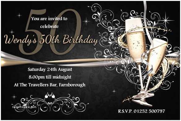 50th Birthday Invitations 45 50th Birthday Invitation Templates – Free Sample