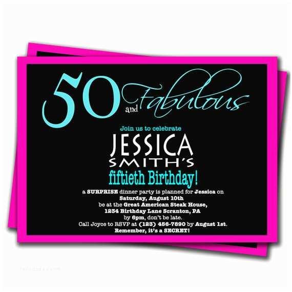 50th Birthday Invitations 50th Surprise Birthday Party Invitations