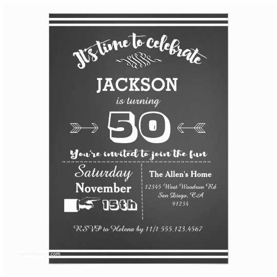50th Birthday Invitations Adult Birthday Party Invitation 50th 60th 40th