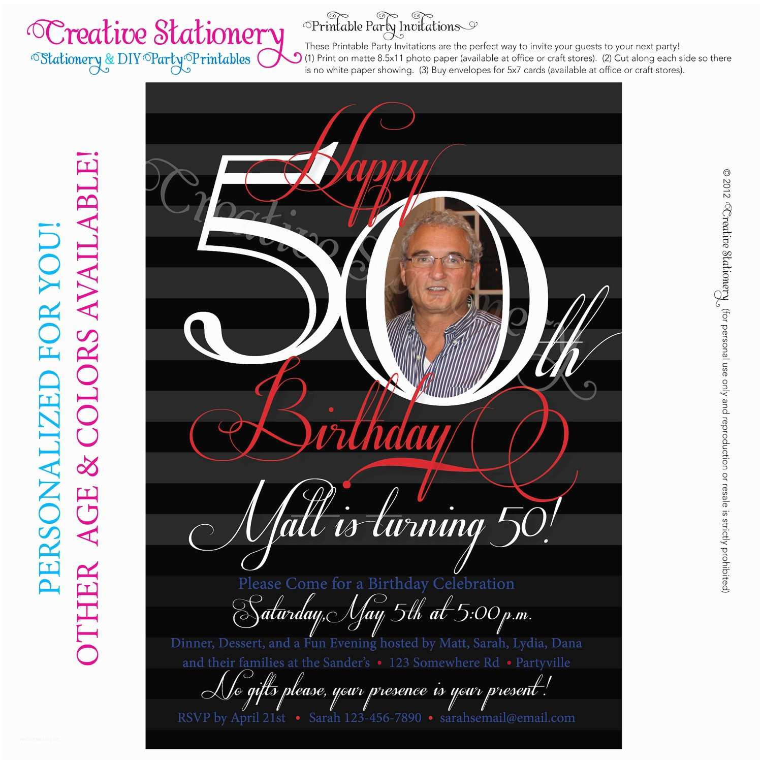 50th Birthday Invitations for Her 50th Birthday Invitations for Her Modern Templates