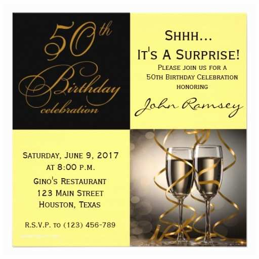 50th Birthday Invitations for Her 6 000 Surprise 50th Birthday Invitations Surprise 50th