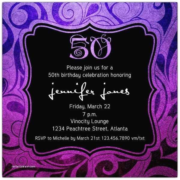 50th Birthday Invitations for Her Brilliant Emblem 50th Birthday Party Invitations