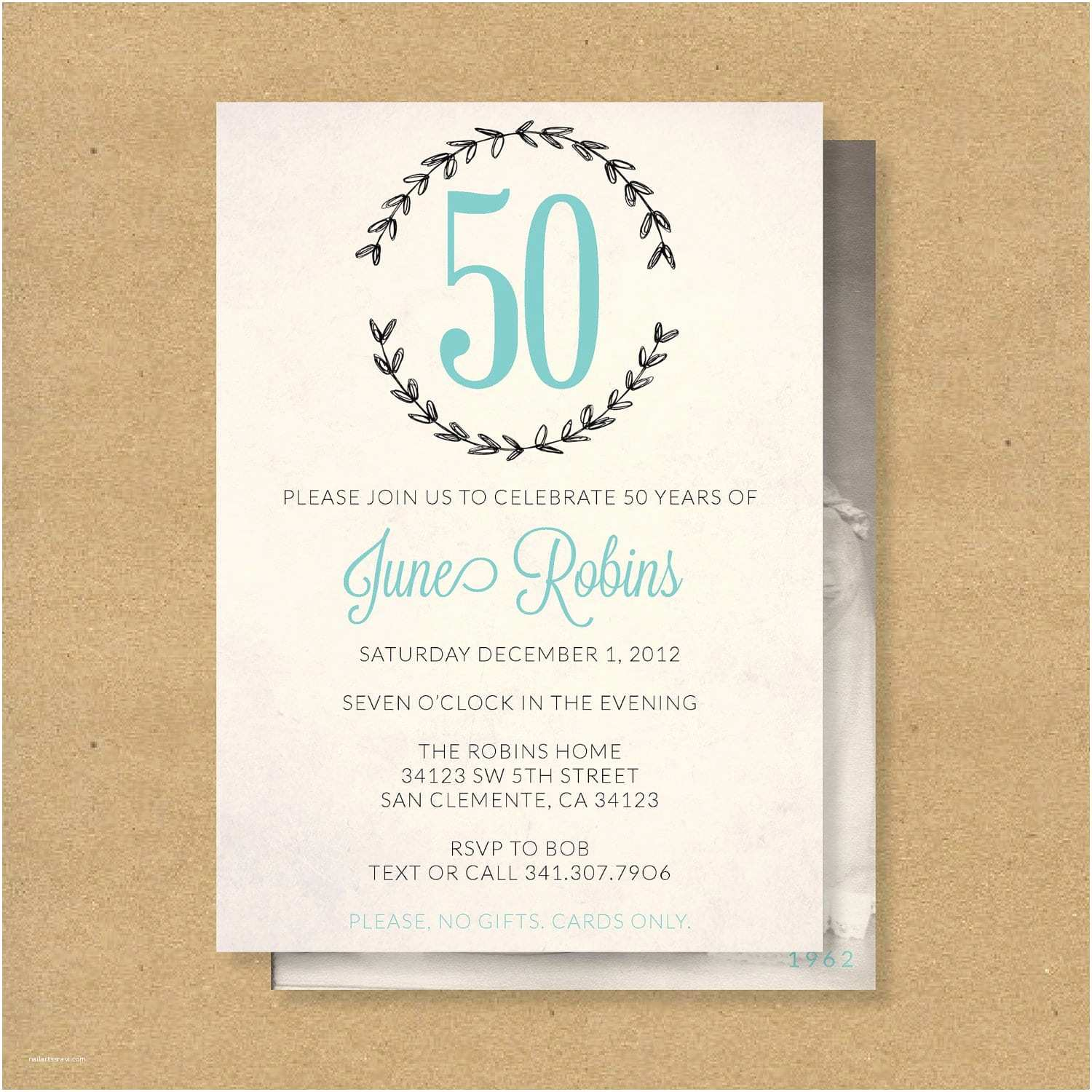 50th Birthday Invitations For Her Free Downloadable Printable Anniversary Invitation