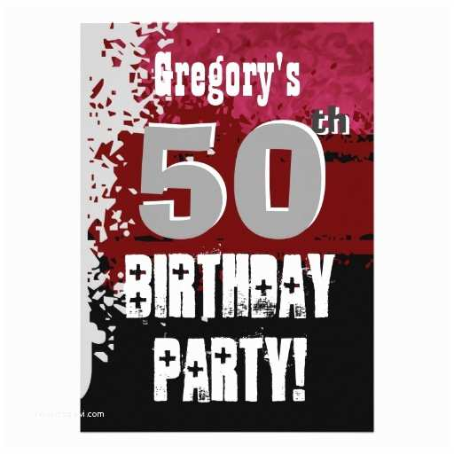 50th Birthday Invitations For Him 300 Party