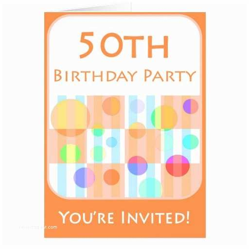 50th Birthday Invitations for Him 50th Birthday Party Invitation for Him Card