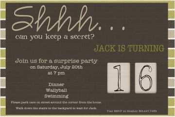 50th Birthday Invitations For Him Surprise