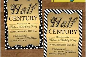 50th Birthday Invitations For Him Funny Invitation
