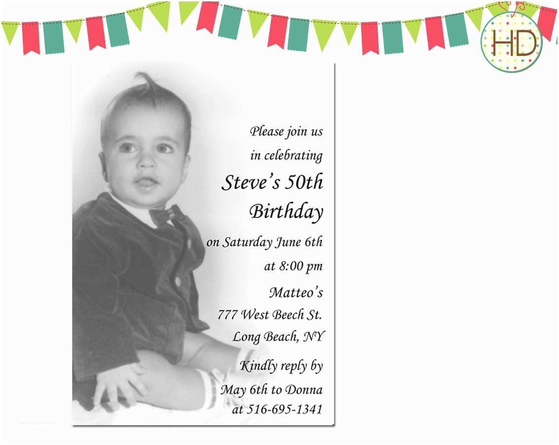 50th Birthday Invitations for Him How to Make 50th Birthday Invitation Template Ideas