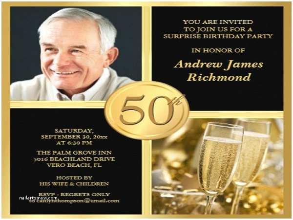 50th Birthday Invitations for Him Ideas for 50th Birthday Invitations