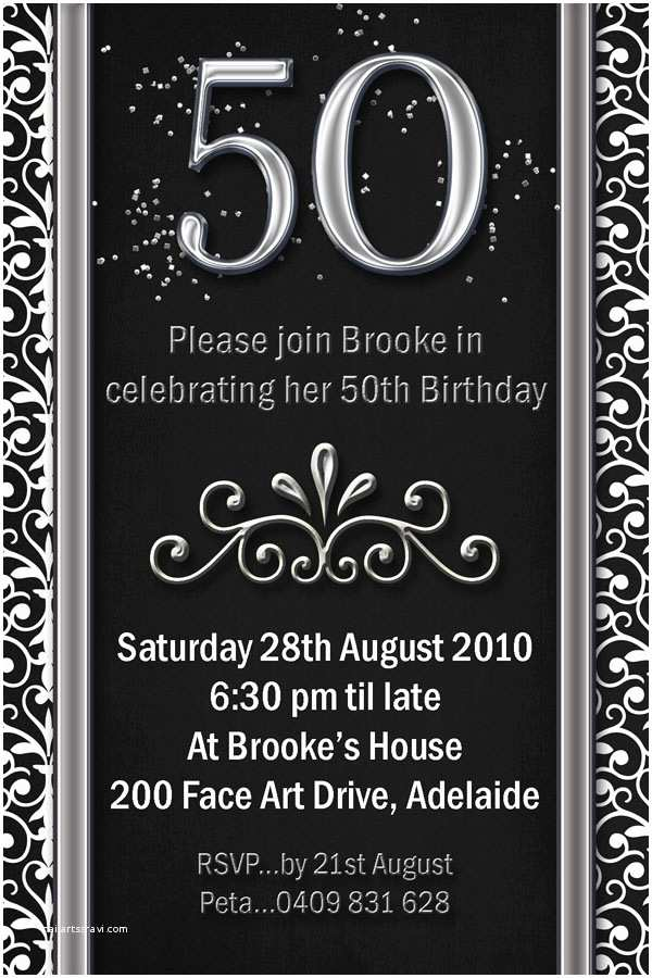 50th Birthday Invitations for Him Impressive 50th Birthday Party Invitation Template