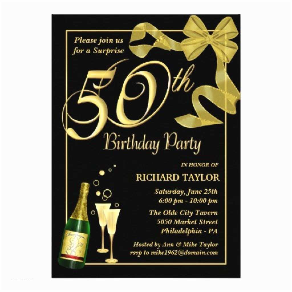 50th Birthday Invitations for Him Men · 50th Birthday Invitations for Him