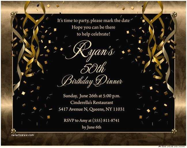 50th Birthday Invitations Free Printable Party For Men