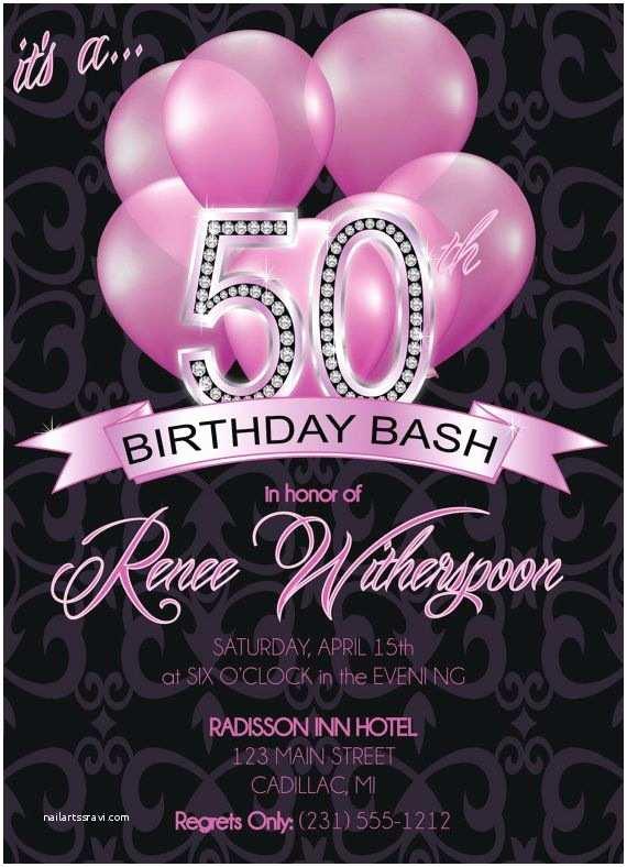 50th Birthday Party Invitations 50th Birthday Invitation Adult 50th Birthday Invitation