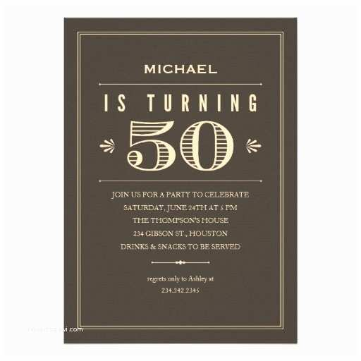 "50th Birthday Party Invitations 50th Birthday Invitations for Men 5"" X 7"" Invitation Card"