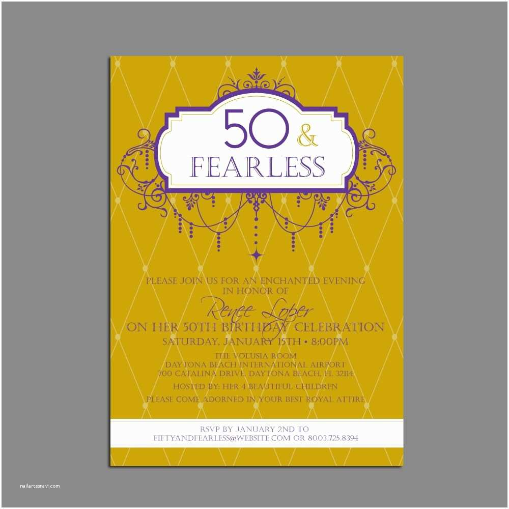 50th Birthday Party Invitations 50th Birthday Party Invitations