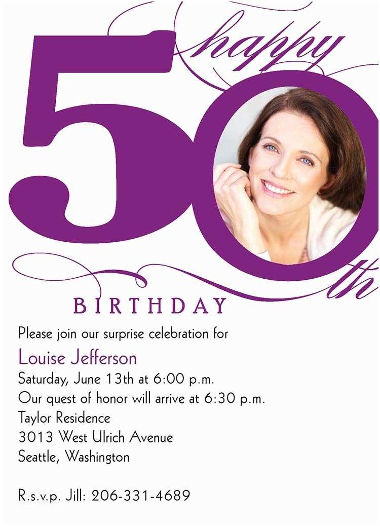 50th Birthday Party Invitations 50th Milestone Birthday Birthday Invitations From