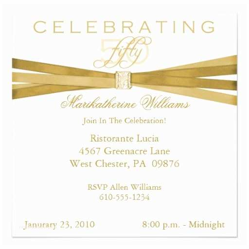 50th Birthday Party Invitations Elegant 50th Fiftieth Birthday Party Invitations 5 25