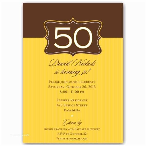 50th Birthday Party Invitations Emblem Gold 50th Birthday Invitations