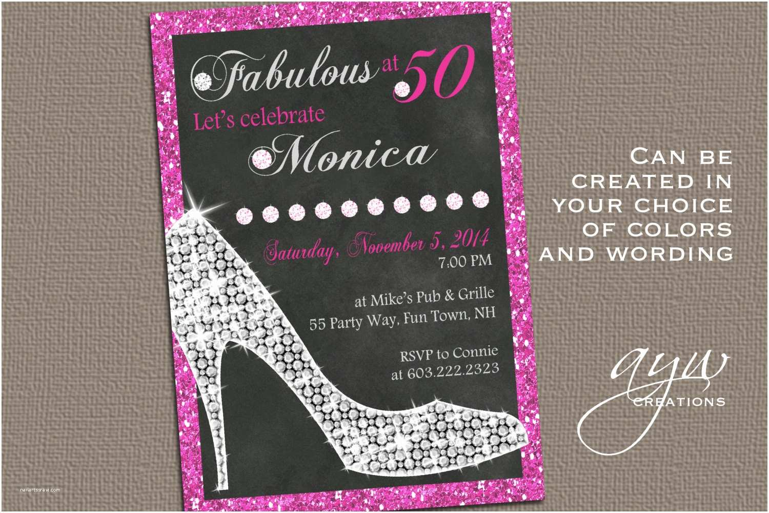 50th Birthday Party Invitations for Her 50th Birthday Invitations for Her Modern Templates