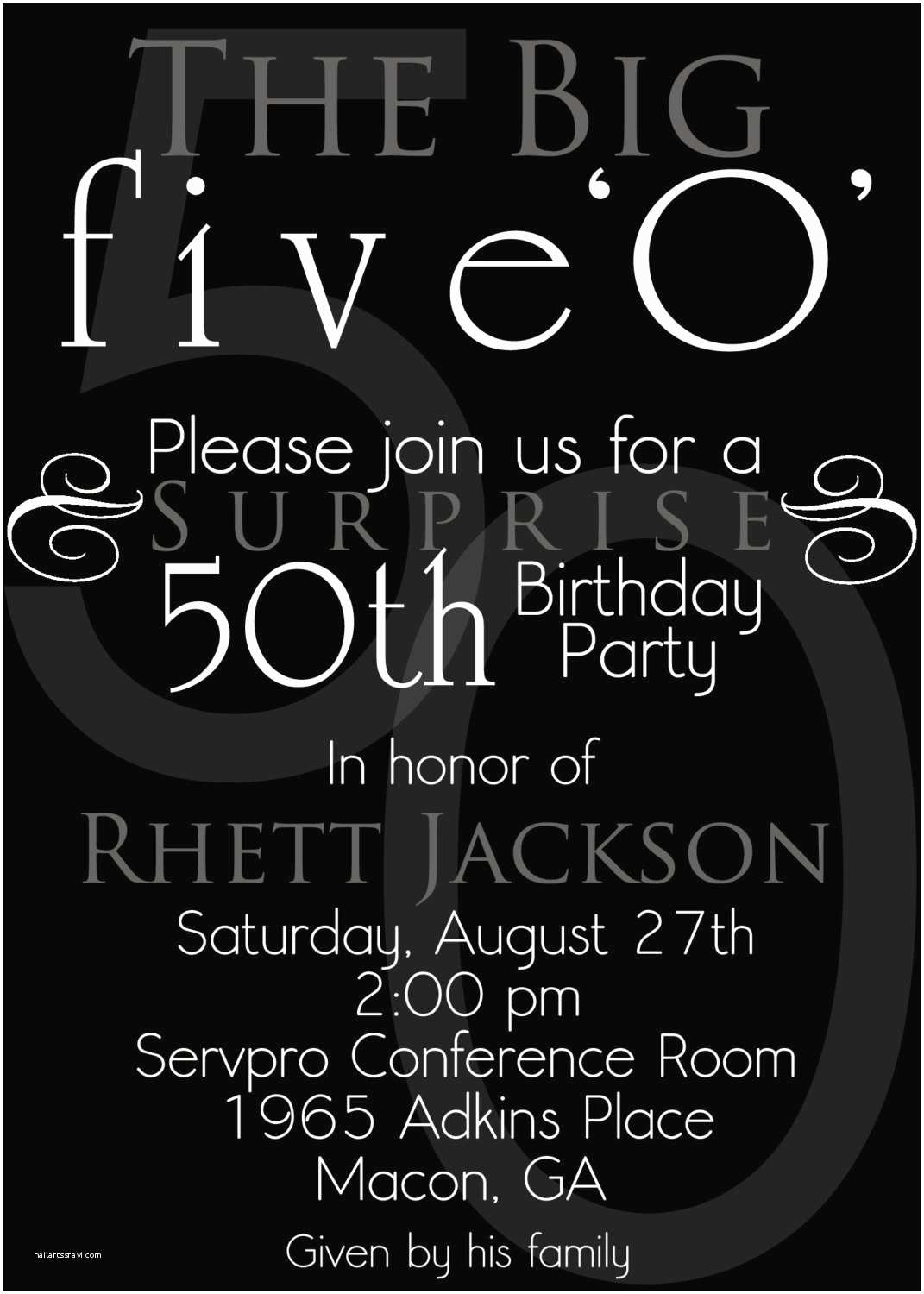 50th Birthday Party Invitations for Her 50th Birthday Invitations for Her