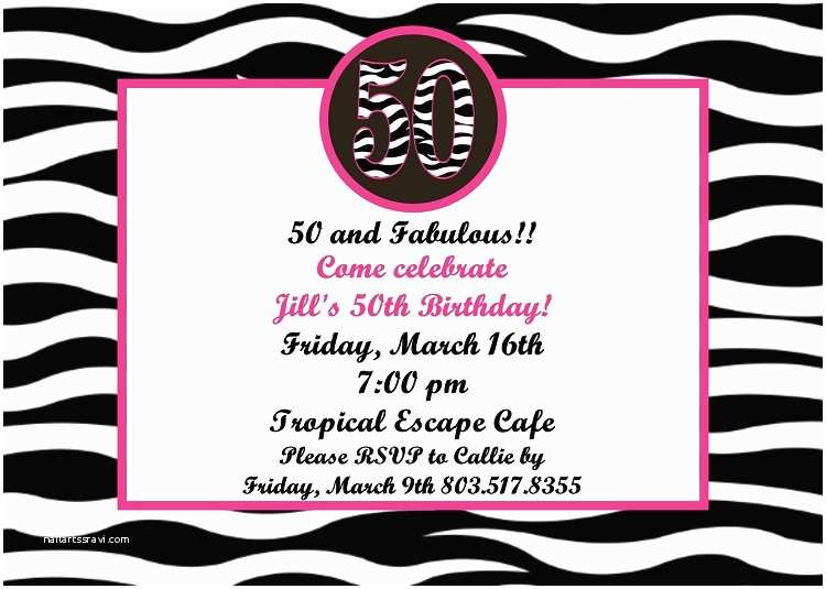 50th Birthday Party Invitations for Her Ideas for Invitations for 50th Birthday Party