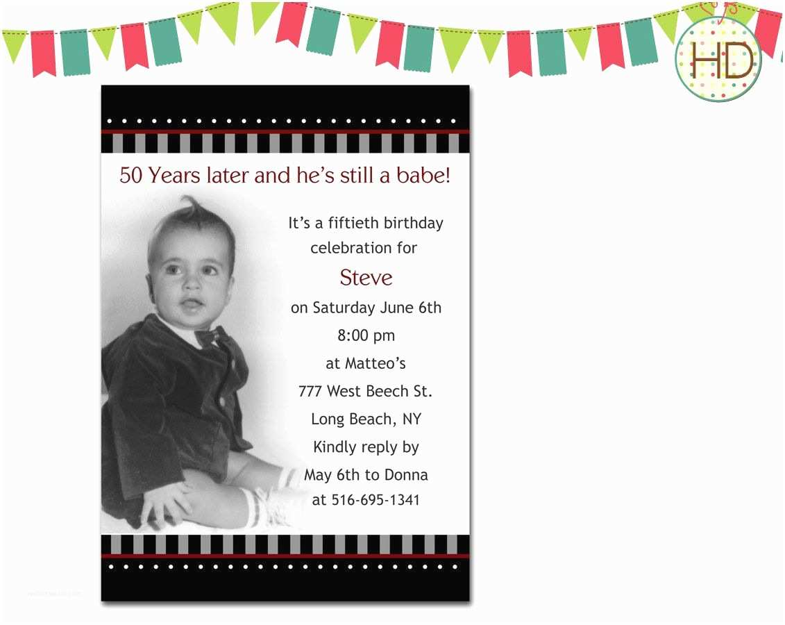 50th Birthday Party Invitations Free 50th Birthday Party Invitations for Men