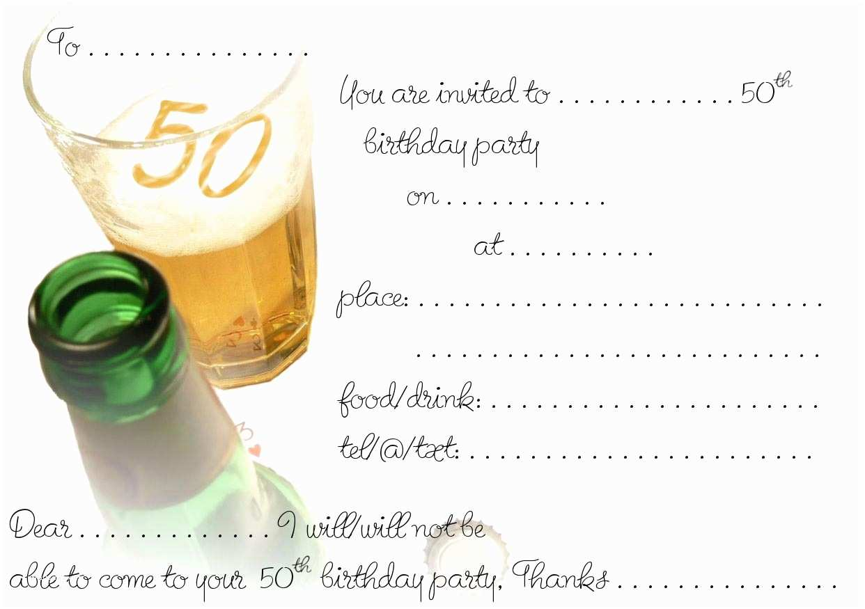 50th Birthday Party Invitations Free Printable 50th Birthday Invitations