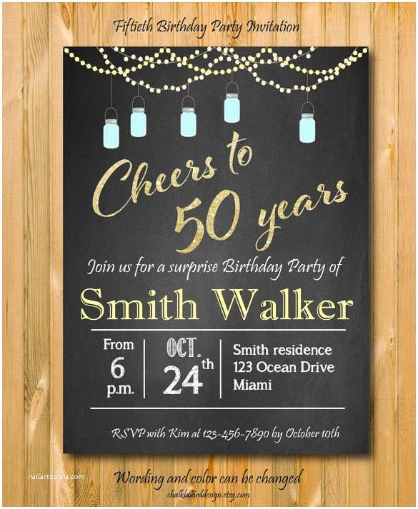 50th Birthday Party Invitations Free Surprise 50th Birthday Invitation – orderecigsjuicefo
