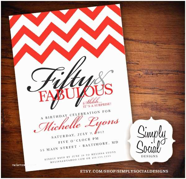 50th Birthday Party Invitations Surprise 50th Birthday Party Invitations