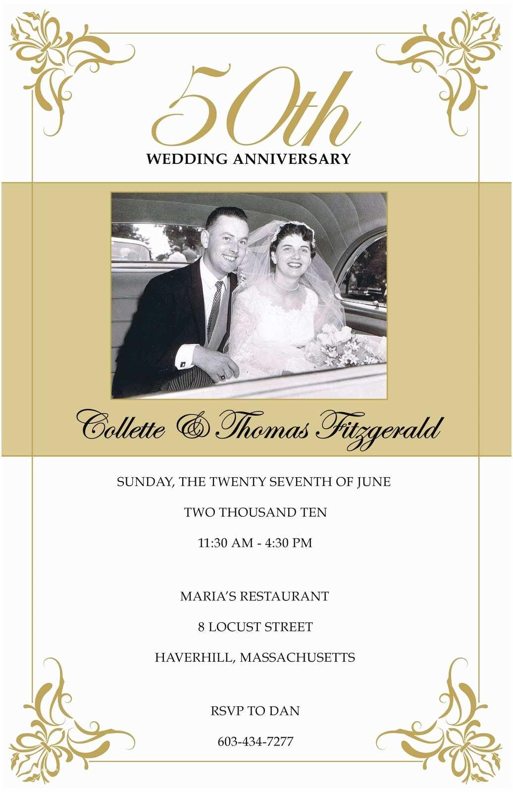 50th Wedding Anniversary Invitations Free Templates Annagraham Design 50th Anniversary