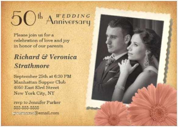 50th Wedding Anniversary Invitations Free Templates Anniversary Invitation Templates – 28 Free Psd Vector
