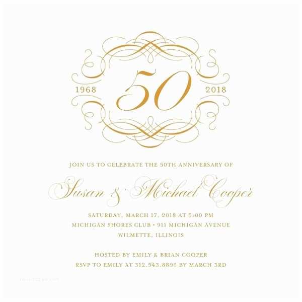 50th Wedding Anniversary Invitations Free Templates Anniversary Invitation Templates Free Download
