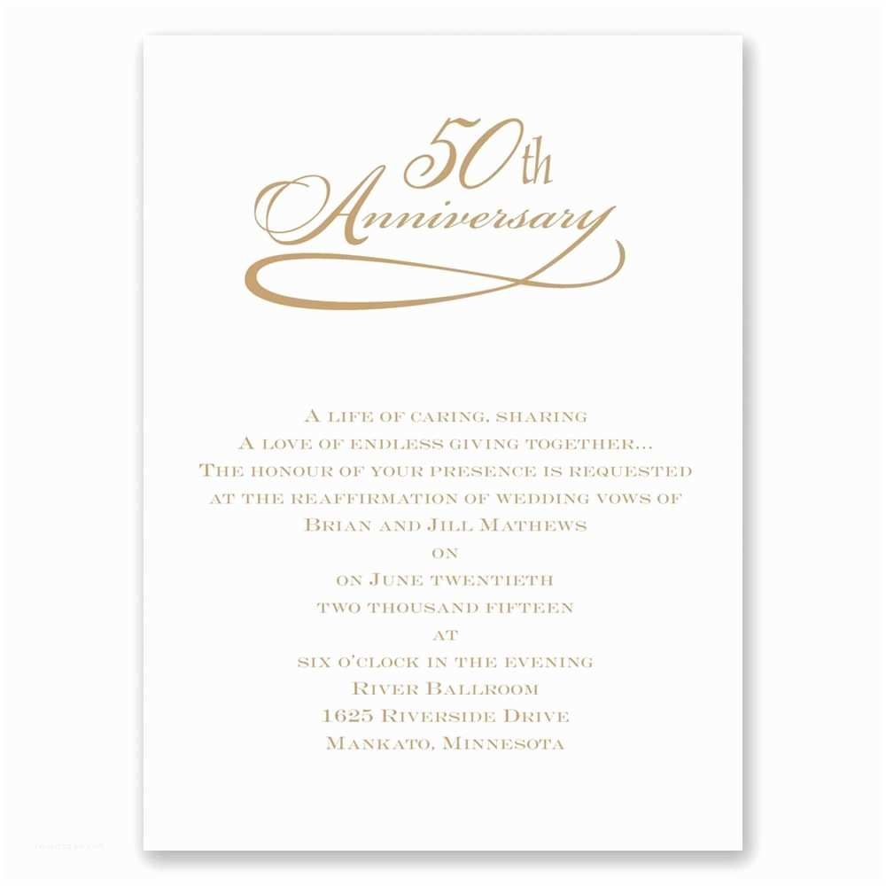 50th Wedding Anniversary Invitations Personalized Anniversary Invitations Personalized 50th