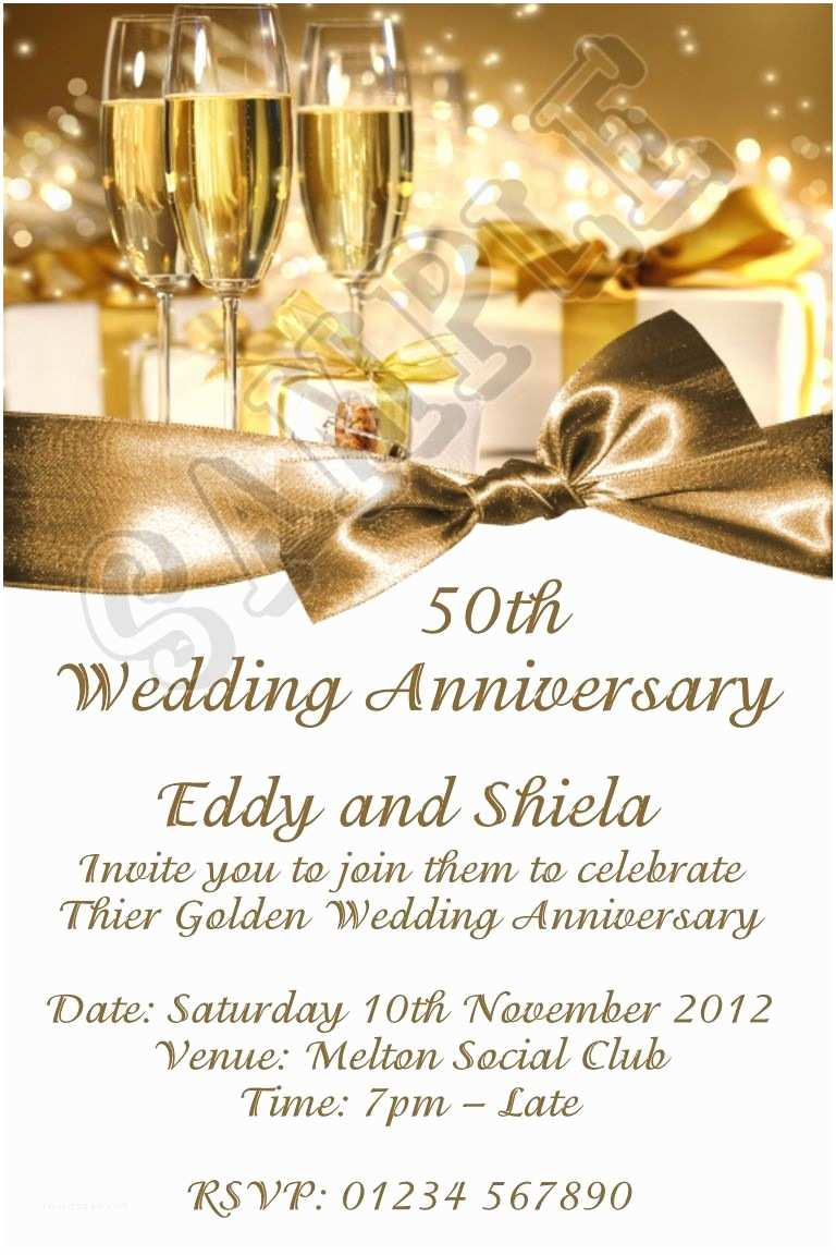 50th Wedding Anniversary Invitations Templates 50 Wedding Anniversary Invitation 50th Wedding