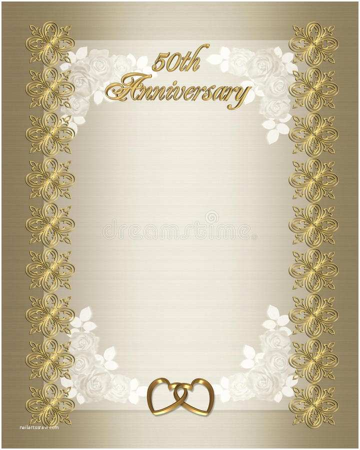 50th Wedding Anniversary Invitations Templates 50th Wedding Anniversary Invitation Template Stock
