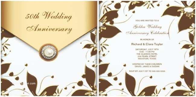 50th Wedding Anniversary Invitations Templates 50th Wedding Anniversary Invitation Wording