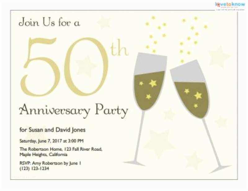 50th Wedding Anniversary Invitations Templates Free Printable 50th Anniversary Invitation