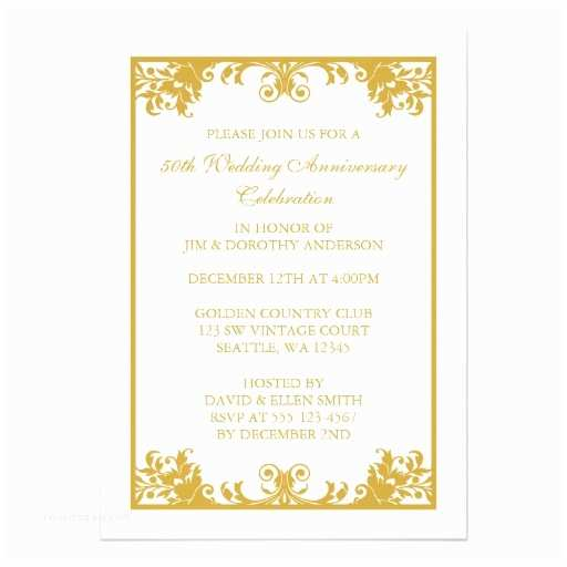 50th Wedding Anniversary Invitations Templates Personalized 50th Anniversary Invitations