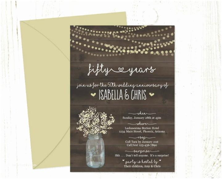 50th Wedding Invitation Templates 30 50th Wedding Anniversary Invitation Designs