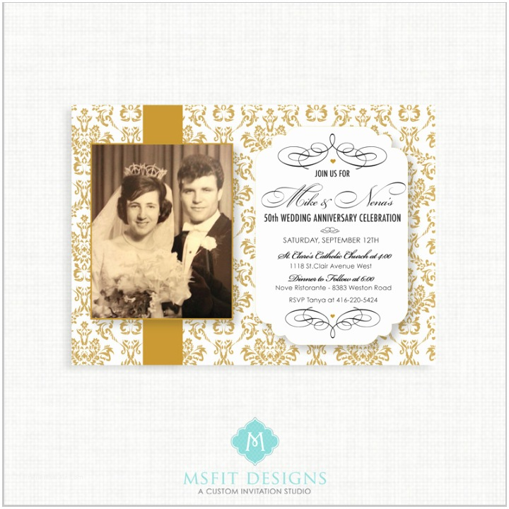 50th Wedding Invitation Templates 30 50th Wedding Anniversary Invitation Designs