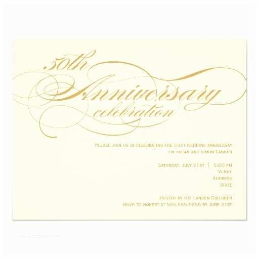 "50th Wedding Invitation Templates 50th Wedding Anniversary Invitation 4 25"" X 5 5"