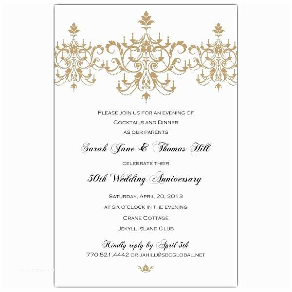 50th Wedding Invitation Templates 50th Wedding Anniversary Invitations today Margusriga