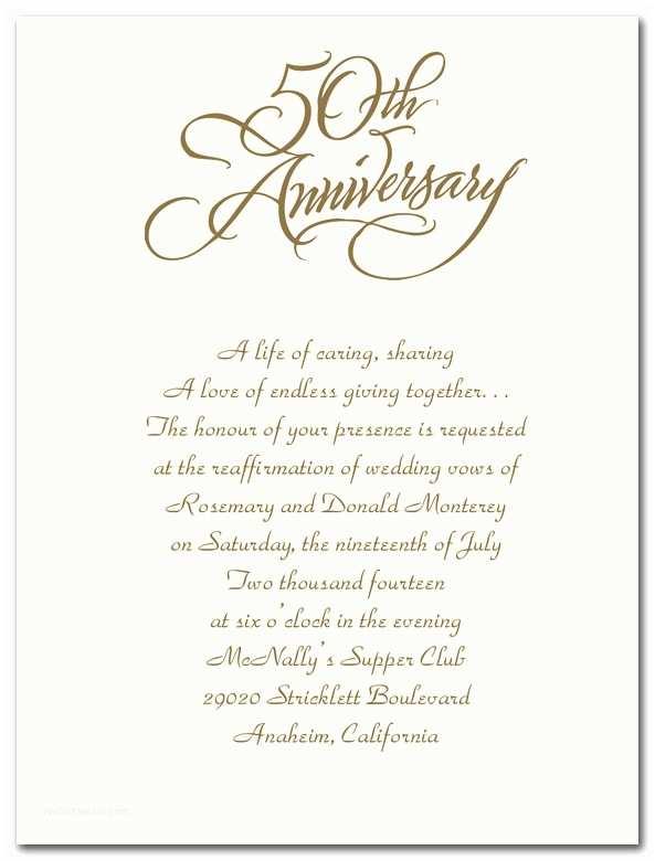 50th Wedding Invitation Templates 50th Wedding Anniversary Template Word Templates
